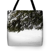 Snowy Tree Branches Tote Bag