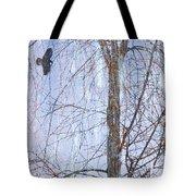 Snowy Tree Tote Bag