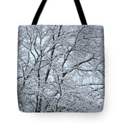 Snowy Tree Limb Maze Tote Bag