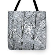 Snowy Tree Limb Maze II Tote Bag