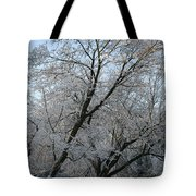 Snowcovered Trees Tote Bag