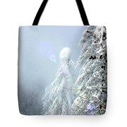 Snowy Trees Tote Bag by Kae Cheatham