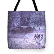 Snowy Turkey Trail Tote Bag