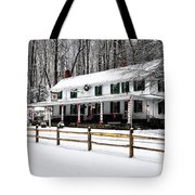 Snowy Valley Green Tote Bag
