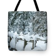 Snowy Wagner's Bridge Tote Bag