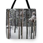 Snowy Walk In The Woods IIi Grand Lake Co Tote Bag