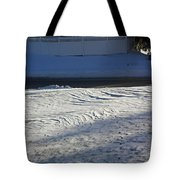 Snowy Waves In January Tote Bag