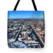 Snowy West Side Winter 2013 Tote Bag
