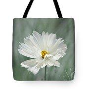 Snowy White Cosmos Tote Bag