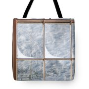 Snowy Window Tote Bag