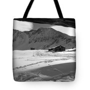 Snowy Window View Tote Bag