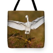 Snowy Wingspread Tote Bag