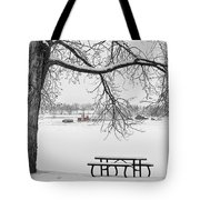 Snowy Winter Country Cottonwood Tree View Bwsc Tote Bag by James BO  Insogna