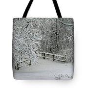 Snowy Winter Tote Bag