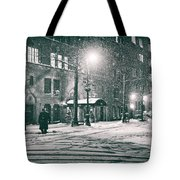 Snowy Winter Night - Sutton Place - New York City Tote Bag