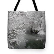 Snowy Wissahickon Creek Tote Bag