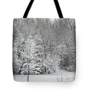 Snowy Woodland Tote Bag