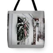 Snowy Wreath  Tote Bag