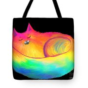Snuggle Cat Tote Bag