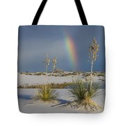 Soaptree Yucca And Rainbow White Sands Tote Bag
