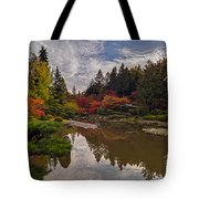 Soaring Autumn Colors In The Japanese Garden Tote Bag