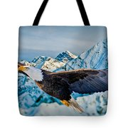 Soaring Bald Eagle Tote Bag by Gary Keesler