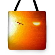 Soaring In The Sunset Tote Bag