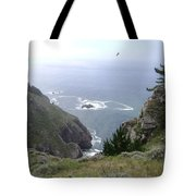 Soaring Over The Cliffs Tote Bag