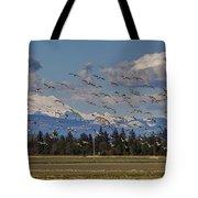 Soaring Skagit Snow Geese Tote Bag