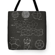 Soccer Ball Construction Artwork - Gray Tote Bag