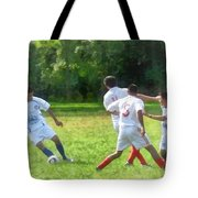 Soccer Ball In Play Tote Bag