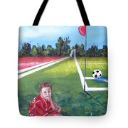 Soccer Field Tote Bag