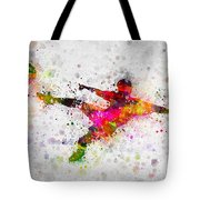 Soccer Player - Flying Kick Tote Bag
