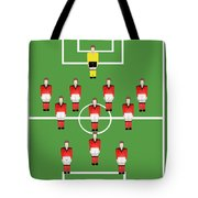 Soccer Team Football Players Tote Bag