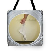 Sock In The Washing Machine Tote Bag by Mats Silvan