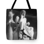 Socrates And Apollon Tote Bag