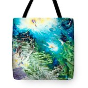 Sodium Thiosulphate Microcrystals Color Abstract Tote Bag