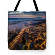 Sodo Sunrise Seattle Morning Tote Bag
