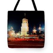 Sofiiska Square At Night Tote Bag