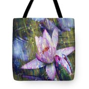 Water Lily Photography Tender Moments  Tote Bag