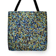 Soft Blue With Yellow Tote Bag