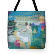 Soft Evening Glow Tote Bag