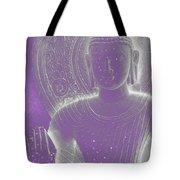 Soft Glow Purple Buddha Tote Bag by Sally Rockefeller
