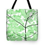 Soft Green Leaves Melody Tote Bag