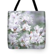 Soft Lavender Dancing Azalea Flowers Tote Bag