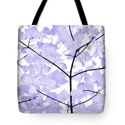 Soft Lavender Leaves Melody Tote Bag