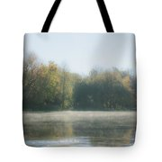 Soft Misty Autumn Morning Tote Bag