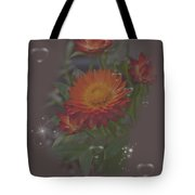 Soft Pastel Abstract Strawflowers Art Prints Tote Bag