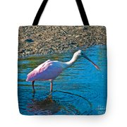 Soft Pink Spoonbill Tote Bag