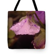 Soft Rain On A Flower Tote Bag